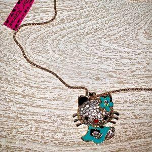 Jewelry - Rhinestone Hello Kitty Necklace